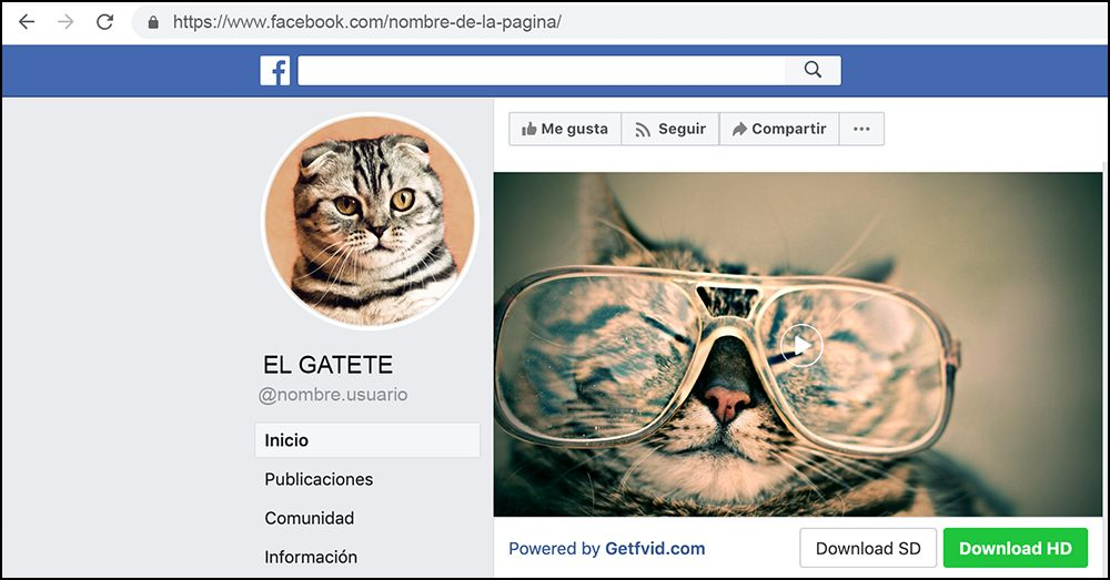La extensión Social Video Downloader permite la descarga directa de vídeos desde Facebook