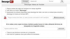 Web para descargar vídeos de youtube